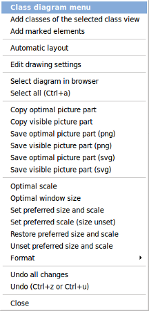 Bouml user manual picture menu add classes of the selected class view ccuart Choice Image